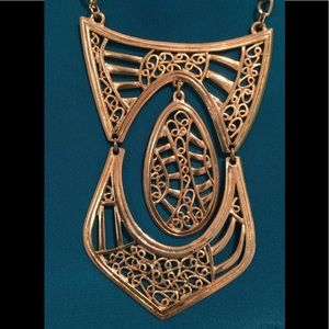 Vintage Jewelry - 1970's Egyptian Revival Necklace